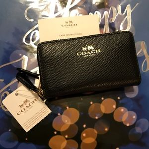COACH SMALL DOUBLE ZIP COIN CASE (F63921)